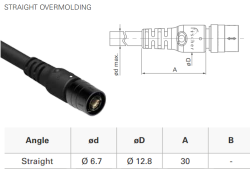 Connection cable MP11/f-D-Sub44HD/m/straight