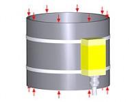Cylindrical strain sensor DA