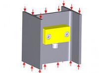Flat strain sensor DA
