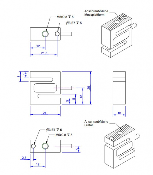 KD24s s-type force sensor - ME-Systeme