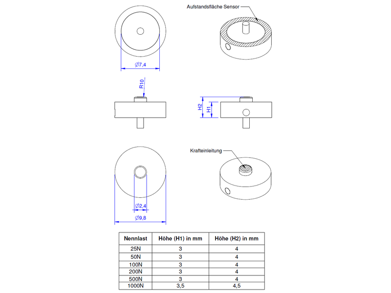 KM10 load cell - ME-Systems